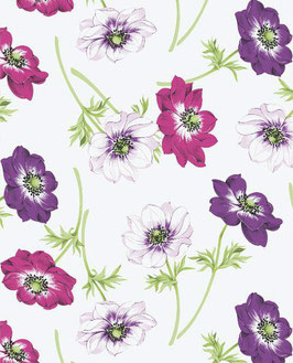 Bobike bekleding - Klaproos paars/roze
