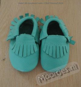 Baby moccasins leather - Ocean