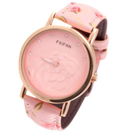 Horloge - flower pink