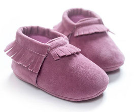 Baby Moccasins suede - Lila