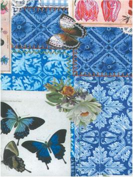Bobike bekleding - Patchwork blauw