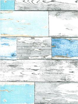 Bobike bekleding - Scrapwood blauw