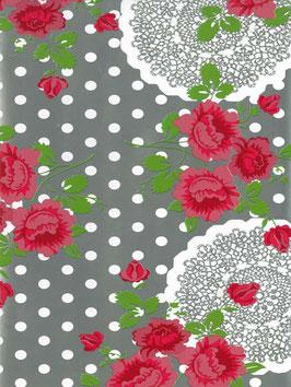 Bobike bekleding - Flowers, lace & dots zilver