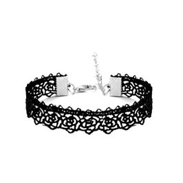 Armband kant - zwart