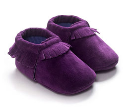 Baby Moccasins suede - Paars