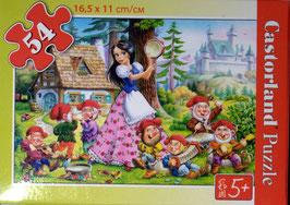 Minipuzzle - Schneewitchen und die sieben Zwerge