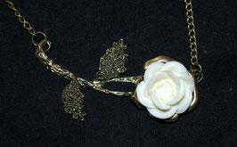 Vintage Halskette - Die Weisse Rose