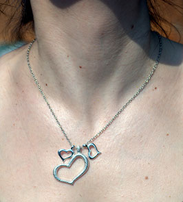 Schicke Damenkette - Die drei Herzen