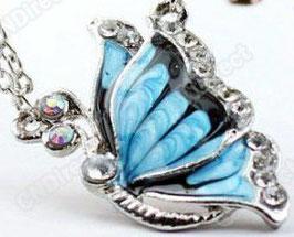 Damenhalskette - Der blaue Nachfalter