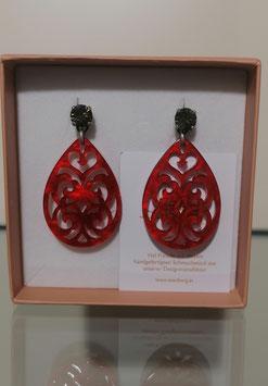 Edele Ohrringe von der Designmanufaktur SEENBERG - rot