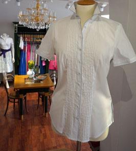 Bluse in weiß mit kurz Arm von Wallmann