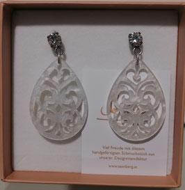 Edele Ohrringe von der Designmanufaktur SEENBERG - WEISS