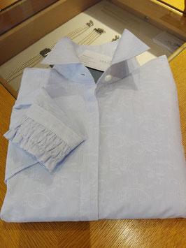 Bluse hellblau mit leichtem Streif