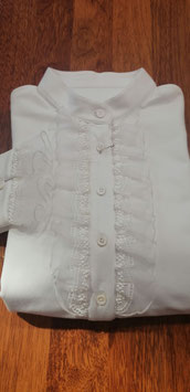 Bluse Jersey mit Rüschenvolant klein