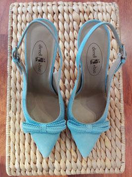 Schuhe mit Bleistiftabsatz blau von Dirndl & Bua