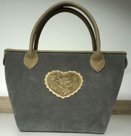 Rindsledertasche Rose