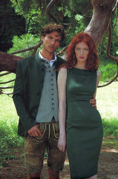 Kleid in Olive  von Mothwurf