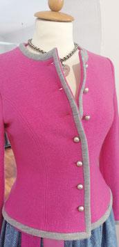 Dirndl-Walkjacke in pink