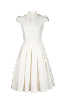 Kleid in Creme