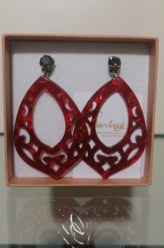 Edele Ohrringe von der Designmanufaktur SEENBERG - rot groß