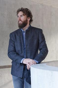 Jacke in blau von Manufaktur Grasegger