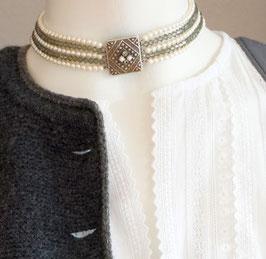 Kropfkette perle/grau