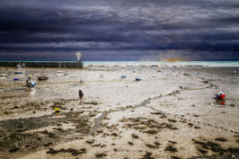 LOW TIDE AT TWILIGHT IN CANCALE -21-