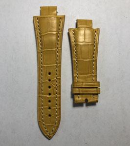 Cinturino Buti in coccodrillo giallo