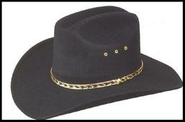 Chapeau Western Noir Elastique