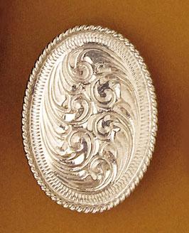 Bijou de foulard Ovale argenté