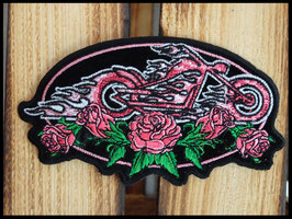 Patch moto rose