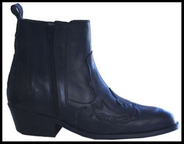 Bottines homme  DOUBLE ZIP NOIR