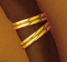 Bijou de foulard bagues dorés