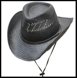 Chapeau western paille NOIR