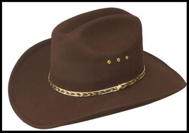 Chapeau western marron
