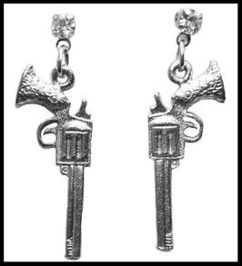BOUCLE D'OREILLE GUNS & STRASS