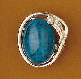 Bijou de foulard turquoise