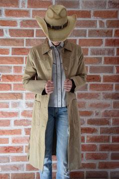 Veste longue croûte de cuir