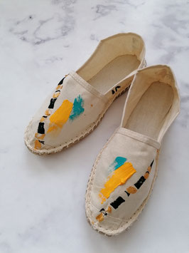 SUMMER EDITION - HANDPAINTED ESPADRILLES EUROPEAN SIZE 38 - No. 5