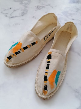 SUMMER EDITION - HANDPAINTED ESPADRILLES EUROPEAN SIZE 43 - No. 3