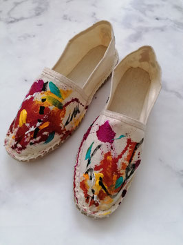 SUMMER EDITION - HANDPAINTED ESPADRILLES EUROPEAN SIZE 38 - No. 1