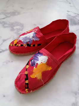 SUMMER EDITION - HANDPAINTED ESPADRILLES EUROPEAN SIZE 38 - No. 4