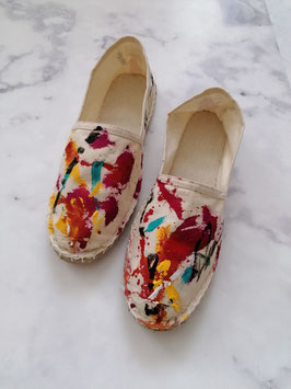 SUMMER EDITION - HANDPAINTED ESPADRILLES EUROPEAN SIZE 38 - No. 6