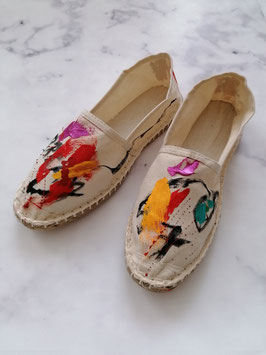 SUMMER EDITION - HANDPAINTED ESPADRILLES EUROPEAN SIZE 38 - No. 2