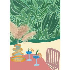 """Postkarte """"Cocktail"""" von A-Journal"""