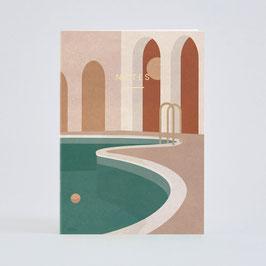 """Notizbuch """"Pool mit Arche"""" von Wrap"""