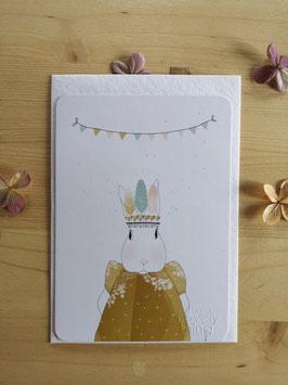 """Postkarte """"Hase mit Girlande"""" von My lovely thing"""