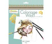 "Malbuch ""Coloriage Wild 3"" von Avenue Mandarine"