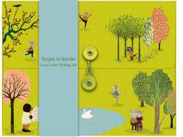"Briefpapier ""Yoga im Park"" von Roger La Borde"