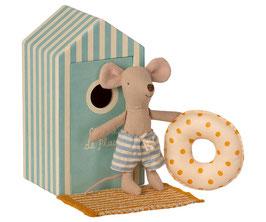"""""""Beach mice, Little brother in Cabin de Plage"""" kleine Strandmaus mit Kabine von Maileg"""